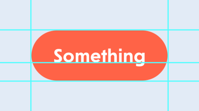 Tomato button-like thing with 'Something' text on it.