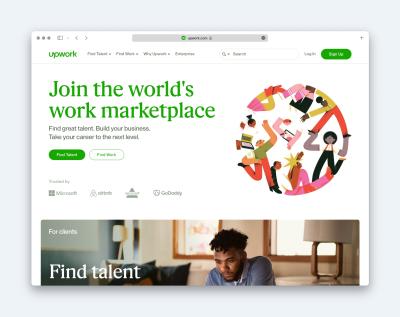Upwork website screengrab