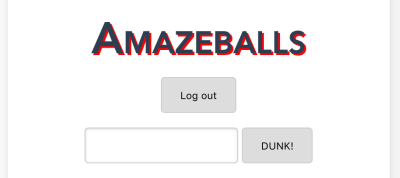 Screenshot of logout option
