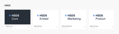 Thumbnails of the four Help Scout design-system libraries