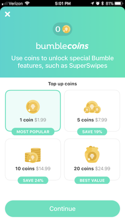 Clean and simple Bumble UI