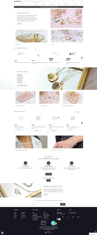 The front page is editable via the CMS and features a lot of images and carousels.