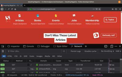 SmashingMag - Firefox Developer Edition
