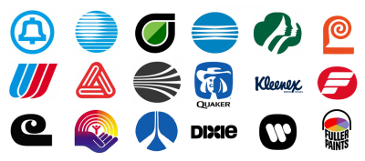 A selection of corporate logos designed by Saul Bass