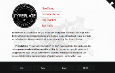 <a href='http://typeplate.com/'>Typeplate</a> helps you implement common typographic patterns