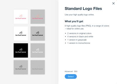 Wix Logo Maker logo files and color