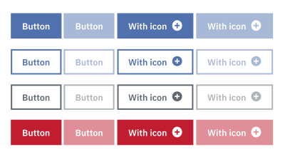 Different appearances of a button