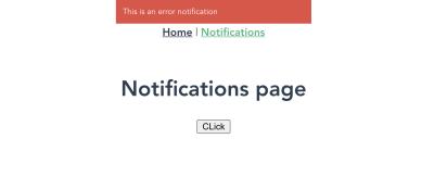 vue-notification with type 'error' in action