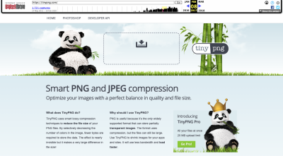 TinyPNG website 2017