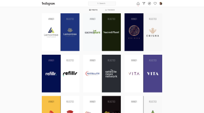 The Rejected Design Instagram account shows off rejected and accepted logo designs