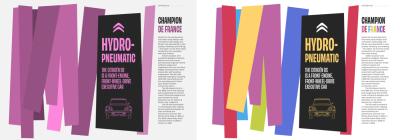 monochrome version and brightly coloured blocks in a chosen design
