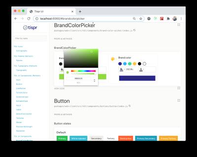 Custom color picker UI component