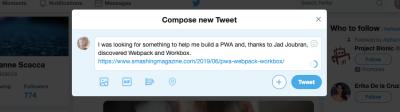 Basic Twitter message