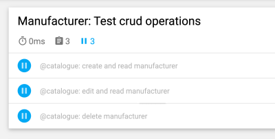 Skipped tests, taken from a report from our CI