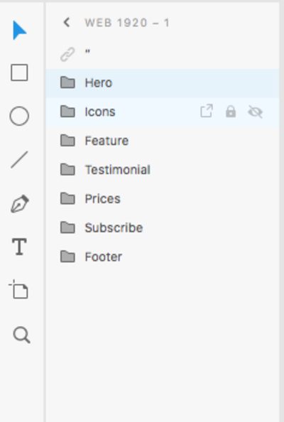 grouping section elements into folders