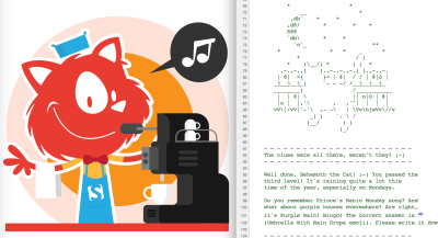 The singing cat, hidden as a barista on <a href='https://www.smashingmagazine.com/membership'>Membership pages</a>.