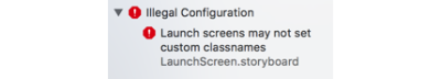 Xcode shows error when a custom class is used
