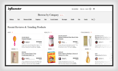 Influenster website applies the principle of similarity to achieve clarity in design.
