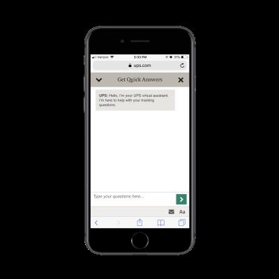 UPS virtual assistant