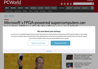 popup on pcworld site