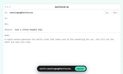 Mailto Link Generator
