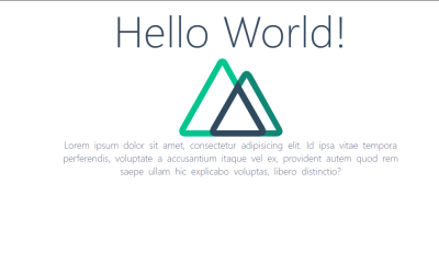 """A Nuxt.js web page containing """"Hello world"""""""