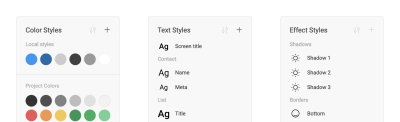 Color, Text and Effect Styles in Figma