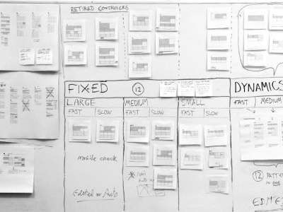 A storyboard with components
