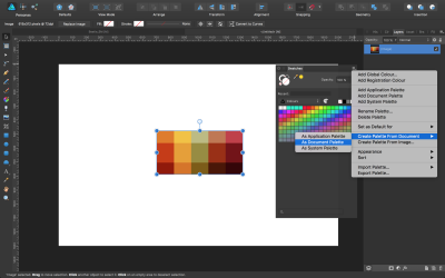 Creating a palette from an image.