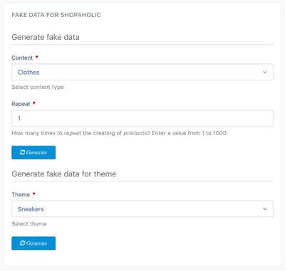 Generating fake data through Laravel's artisan command