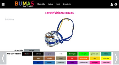 You can configure pretty much anything these days. Including a muzzle, at Bumas.at