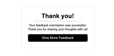 Successful Submission Page