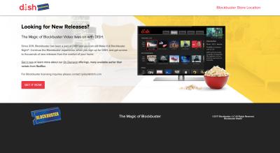 The Blockbuster website