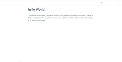 "A VuePress web page containing ""Hello world"""