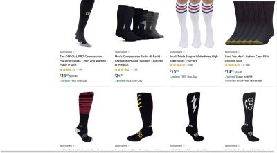Amazon search results overrun with sponsored products