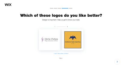 Wix Logo Maker questionnaire - logo design preference