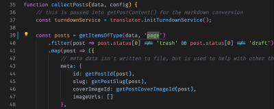 Code snippet showing changes in wordpress-export-to-markdown