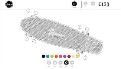 Penny Austrlia's skateboard configurator