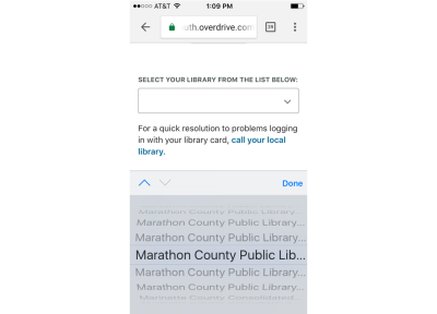"""Scrolling further down the list just to find a number of libraries named """"Marathon County Public Library"""""""