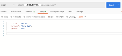 This image shows the output when deploying to App Engine
