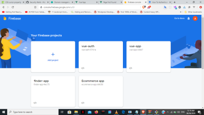 Create new Firebase projects