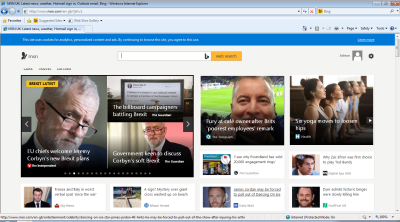 Screenshot of MSN homepage looking good