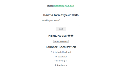 Pluralization of texts on formatting page.