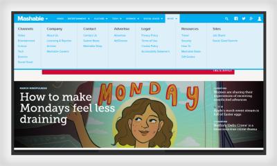 Mashable website features proximity principle
