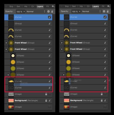 Clipping versus masking in Affinity Designer