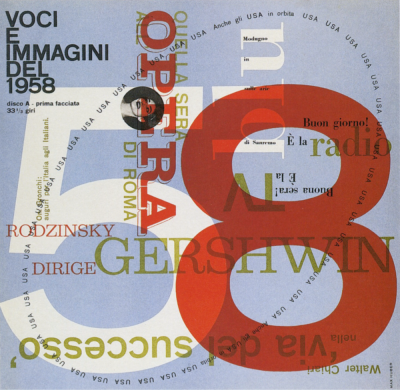 record cover designed by Max Huber