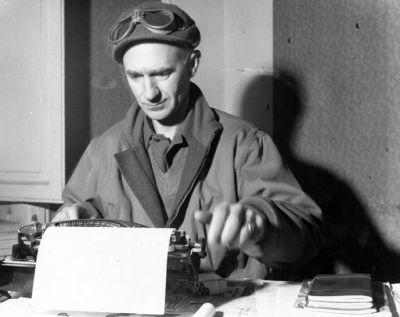 War correspondent Ernie Pyle during World War II