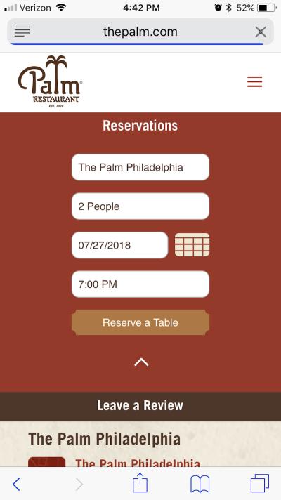 The Palm Restaurant streamlines conversion