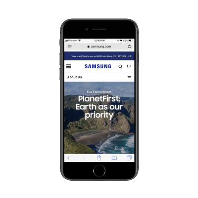 Samsung social responsibility page