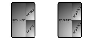 Samsung Developer mockups of multiple windows on foldable devices